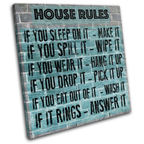 Family House Rules Typography - 13-2367(00B)-SG11-LO